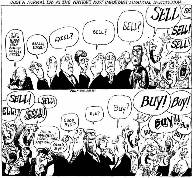 A charge acima é a melhor explicação sobre o funcionamento de uma bolsa de valores. Especulação é isso.