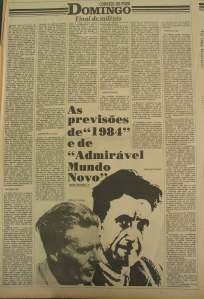 """Caderno """"Domingo"""" do Correio do Povo, 22 de janeiro de 1984 (clique para ampliar)"""