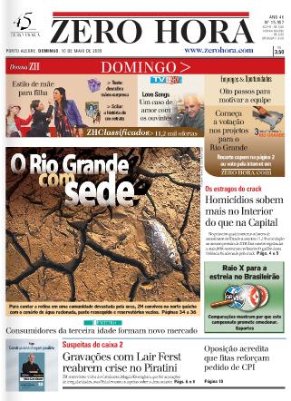 Zero Hora, capa de 10/05/2009